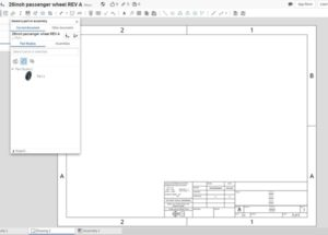 You will get the following pop up window (top image) asking you to select a drawing template.