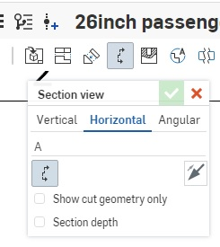 Section view dialog window