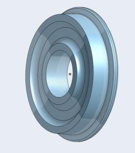 3-D printed gauge 1 wheel