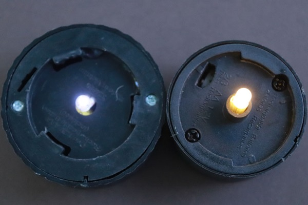 Two lights in LED fixtures