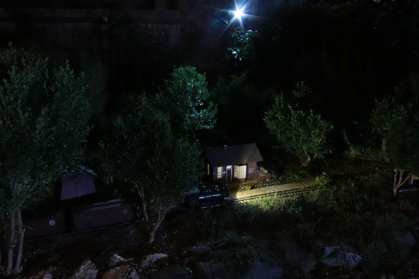 Night scene with cool LED lighting