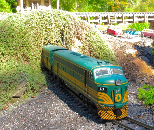 Terry and Sue Norton provided an LOL (laugh out loud) moment on their Groton and Charleston Railroad