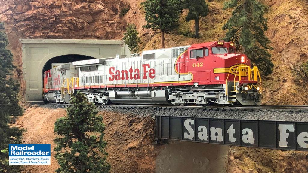John Vavra's photo of his HO scale Santa Fe layout