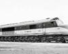 Streamlined diesel locomotive
