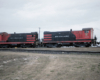 Two diesel switching locomotives