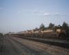 Road-switcher diesel locomotives on freight train
