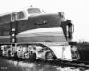 Nose of streamlined diesel locomotive