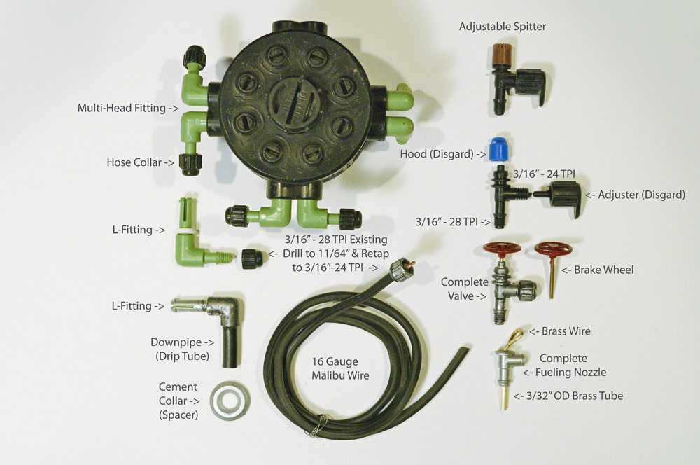List of components to model a model diesel fueling facility