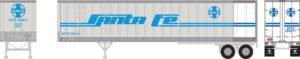 unattached truck trailer