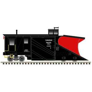 Side view of a snow plow on tracks