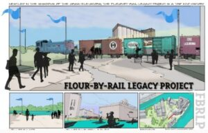 Drawing of the Flour by Rail project