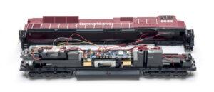 Interior of a train body