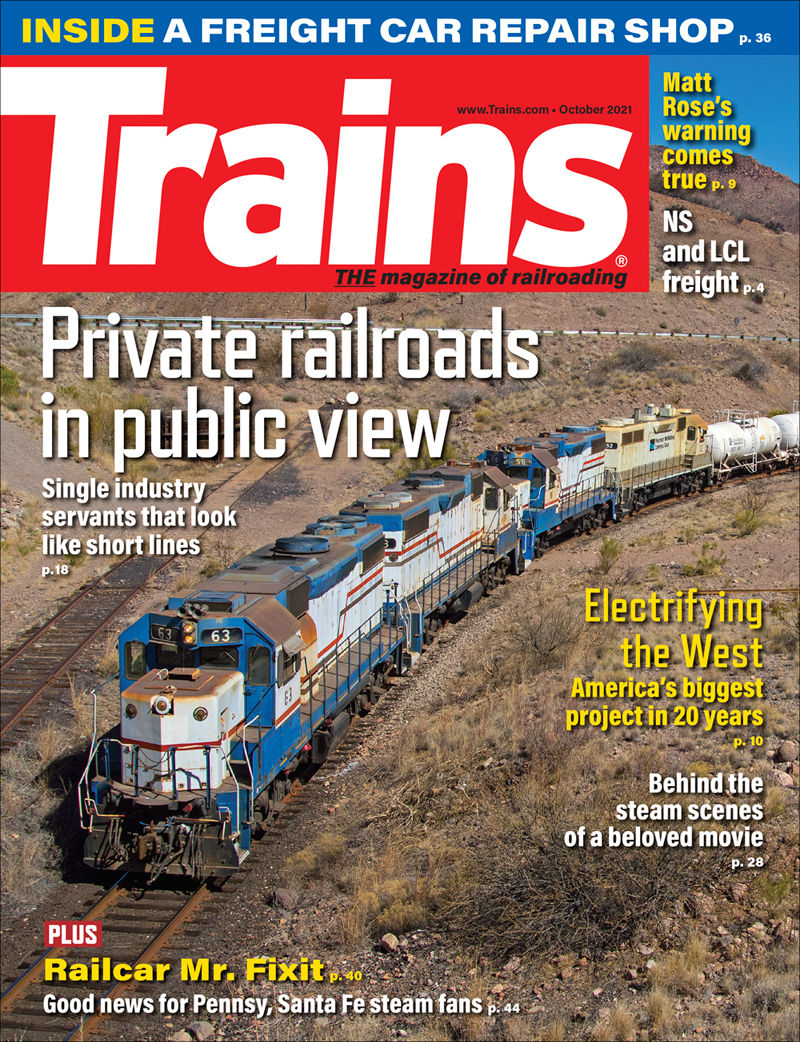 Trains Magazine Issue Cover