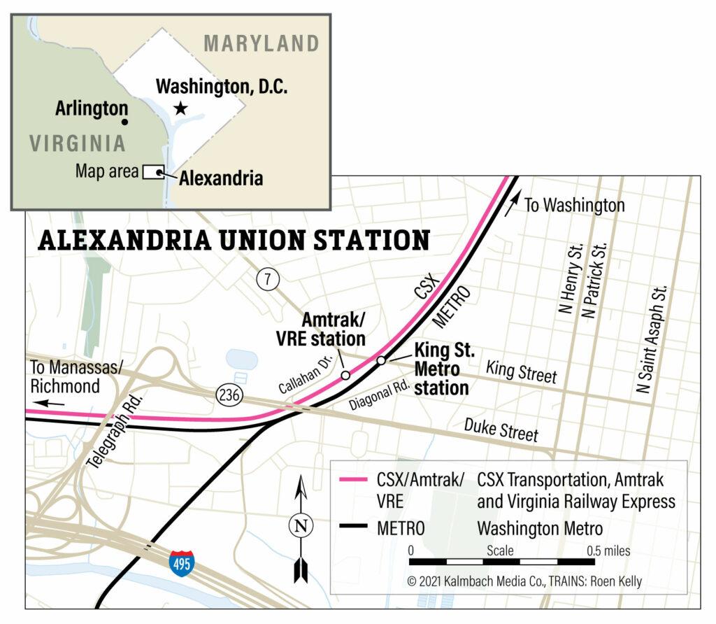 Hot spot: Alexandria Union Station map