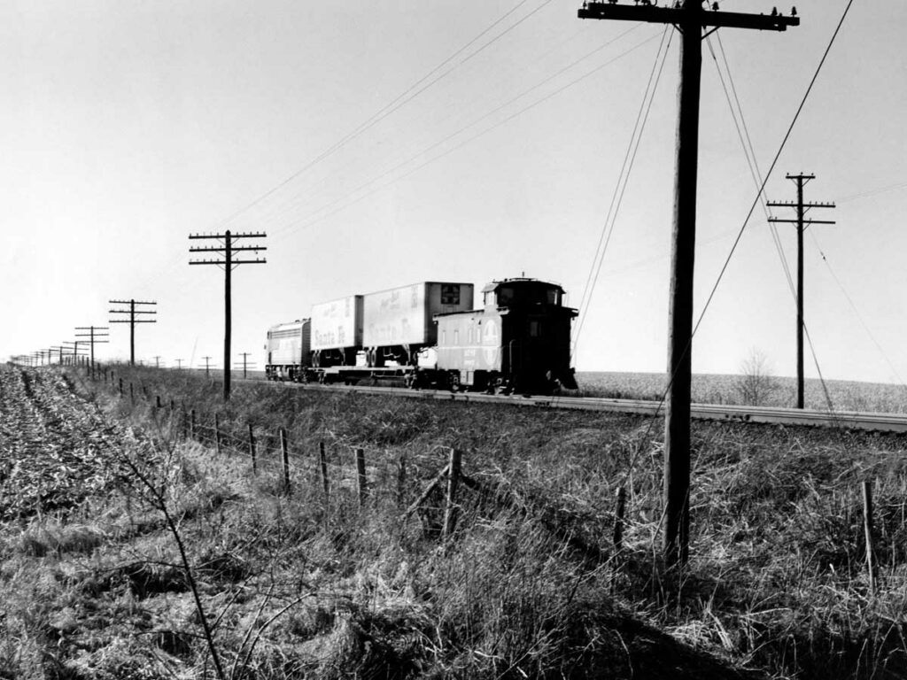 Caboose on one-car freight train