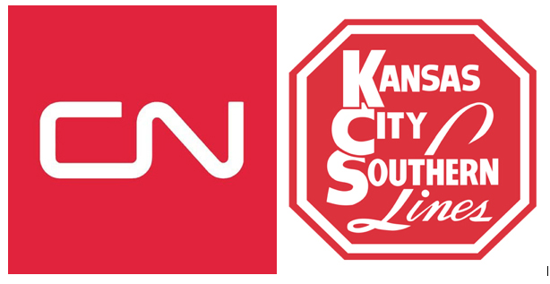Canadian National and Kansas City Southern logos