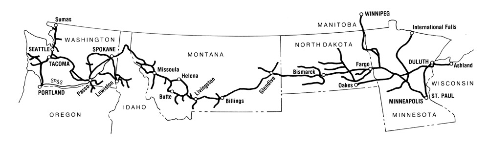 Northern Pacific Railway map
