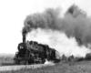 Steam locomotive with short passenger train
