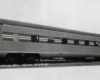 Streamlined passenger car broadside image.