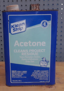 Can of acetone