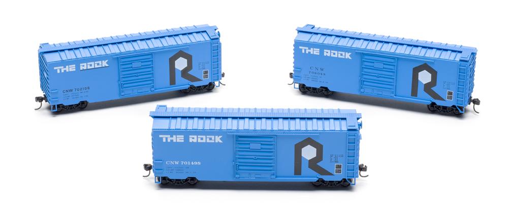 Three boxcars