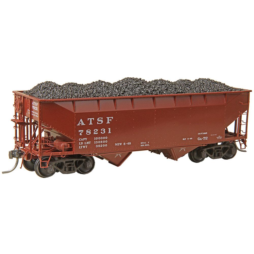 Two bay hopper full of coal