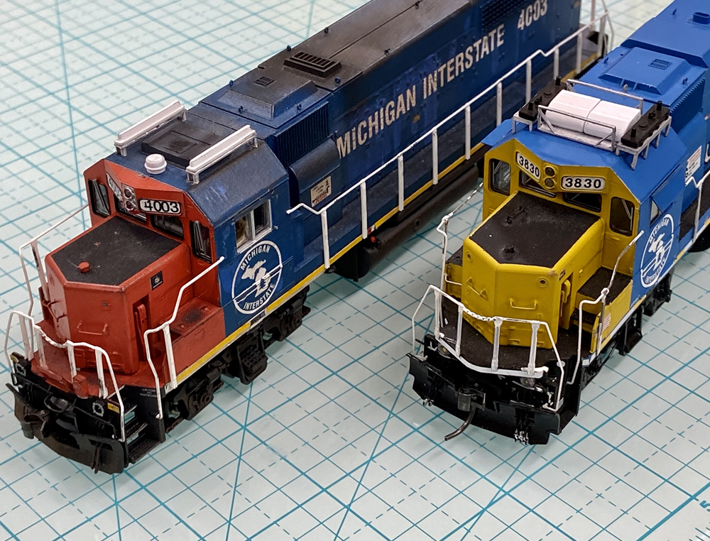 Two diesel locomotives