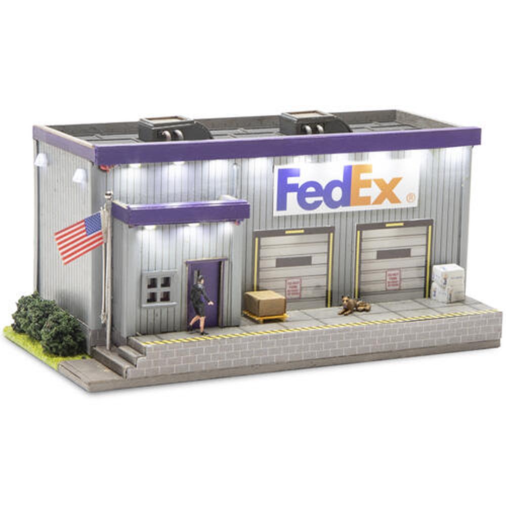 Menards HO scale FedEx freight building.