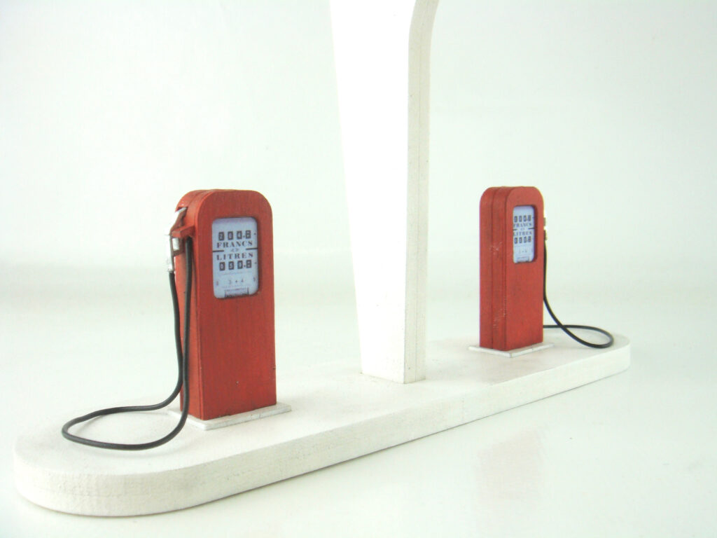 Two model gas pumps