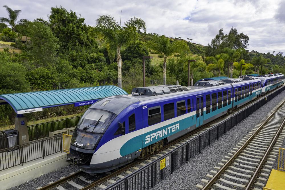 Sprinter train at a station