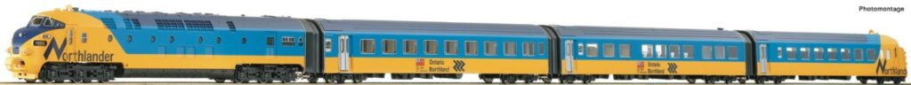 a yellow and blue train