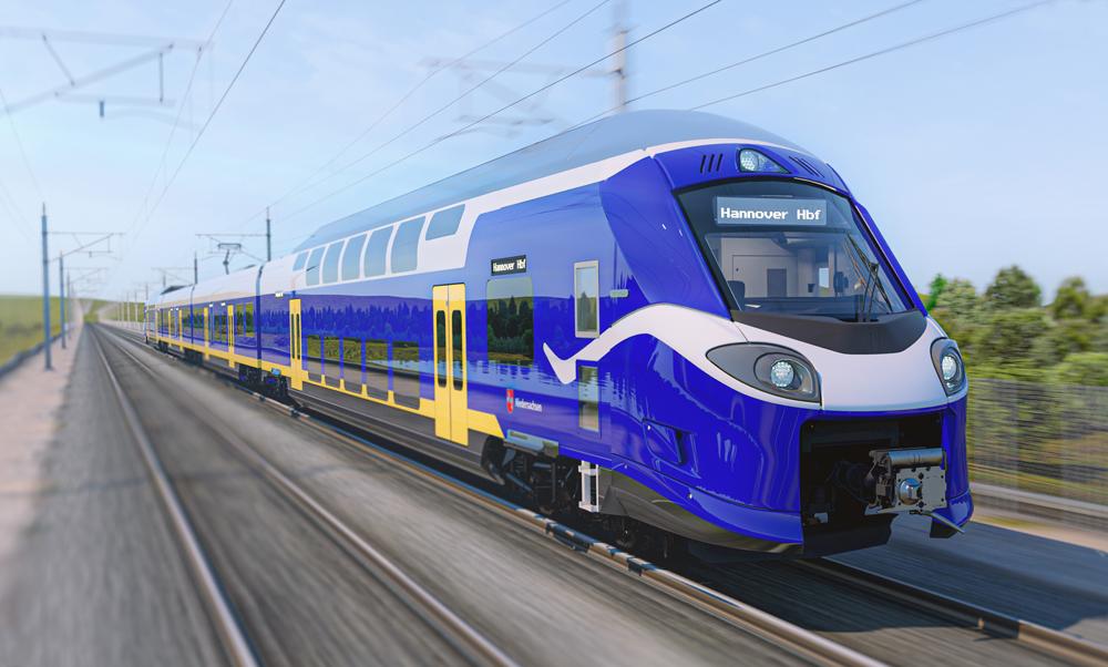 Computer rendering of passenger trainset