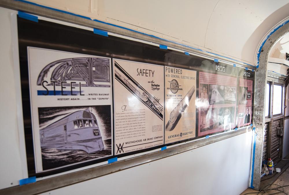 Informational displays inside passenger car