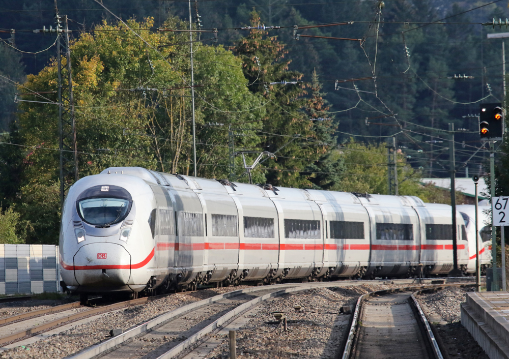 German high speed train rounds curve