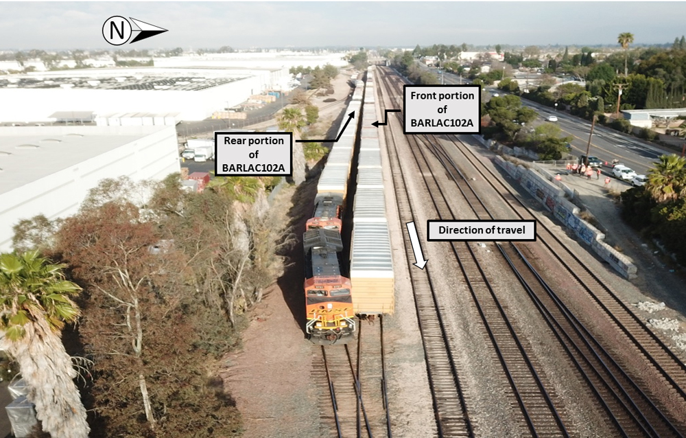 Aereal photo of rail accident site