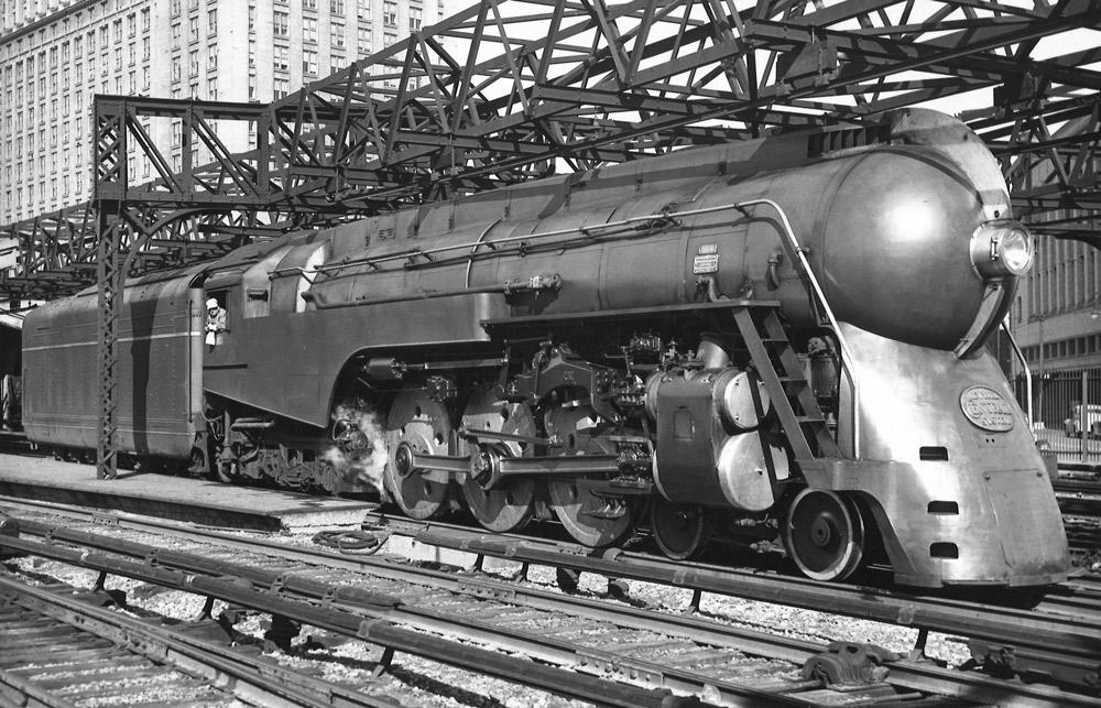 Streamlined 4-6-4 steam locomotive