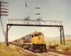 Three road-switcher diesel locomotives