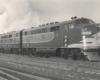 Three streamlined diesel locomotives