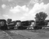 Four road-switcher diesel locomotives