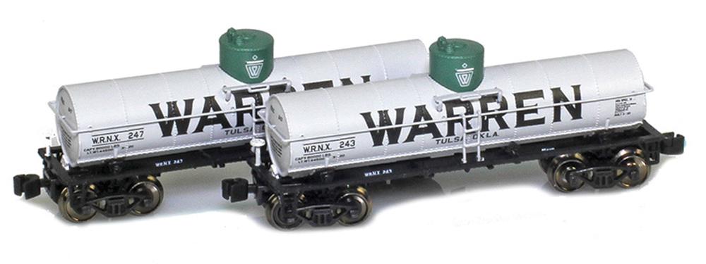 Two Warren tank cars