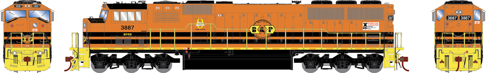 Athearn Genesis HO scale Buffalo & Pittsburgh Electro-Motive Division SD60M diesel locomotive