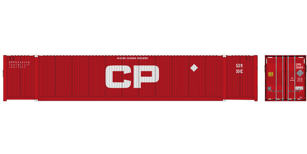 Canadian Pacific 53-foot Jindo/CIMC intermodal container.