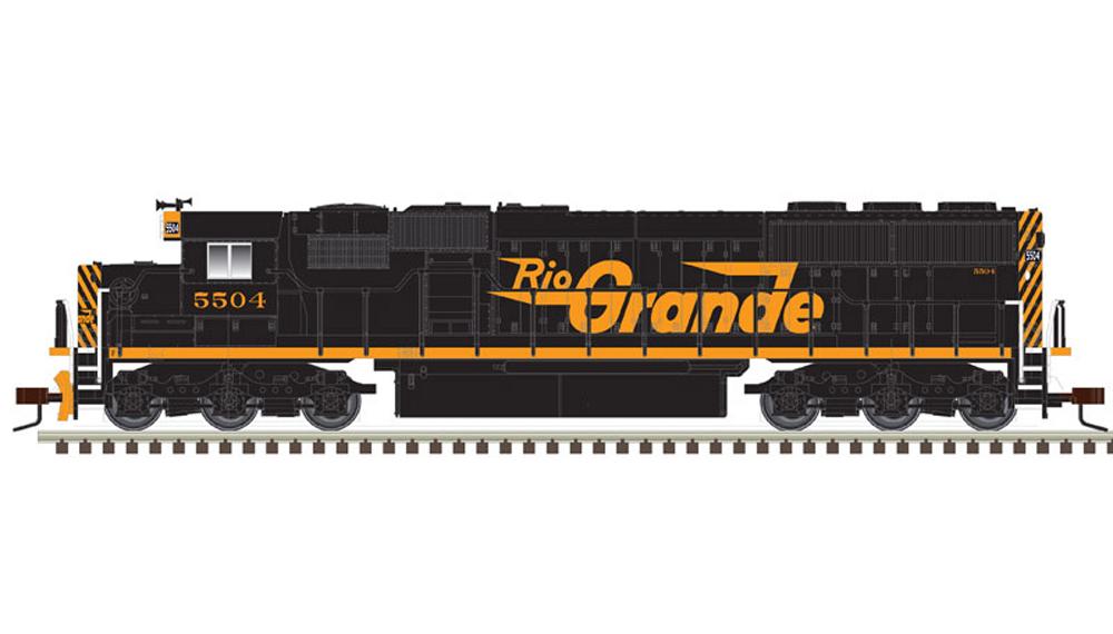 Denver & Rio Grande Western Electro-Motive Division SD50 diesel locomotive.