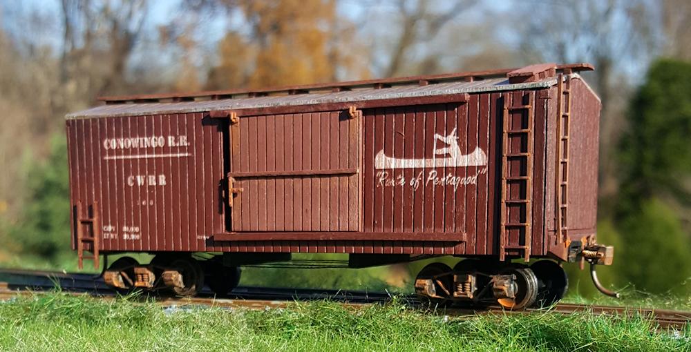 Sheathed boxcar