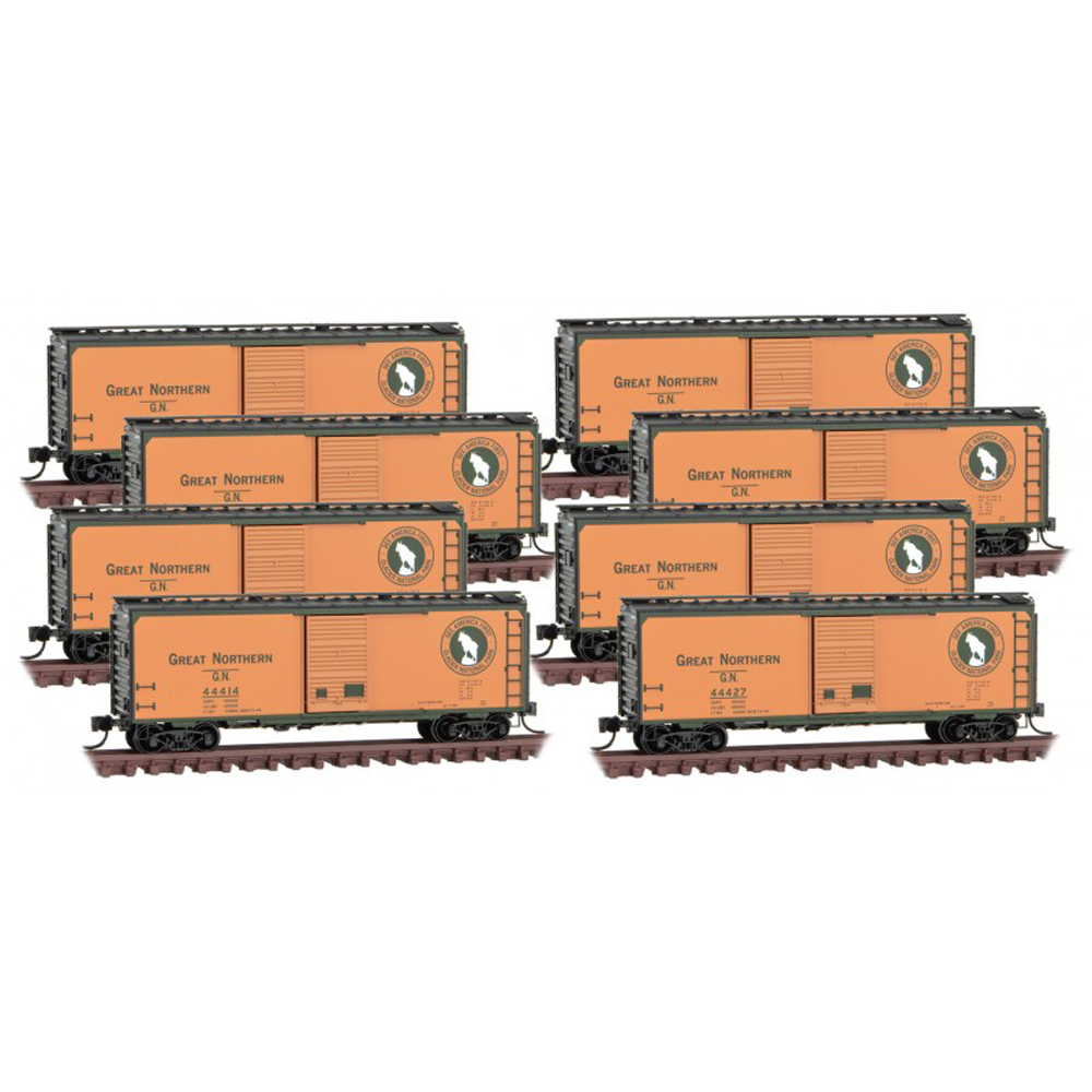 Eight boxcars
