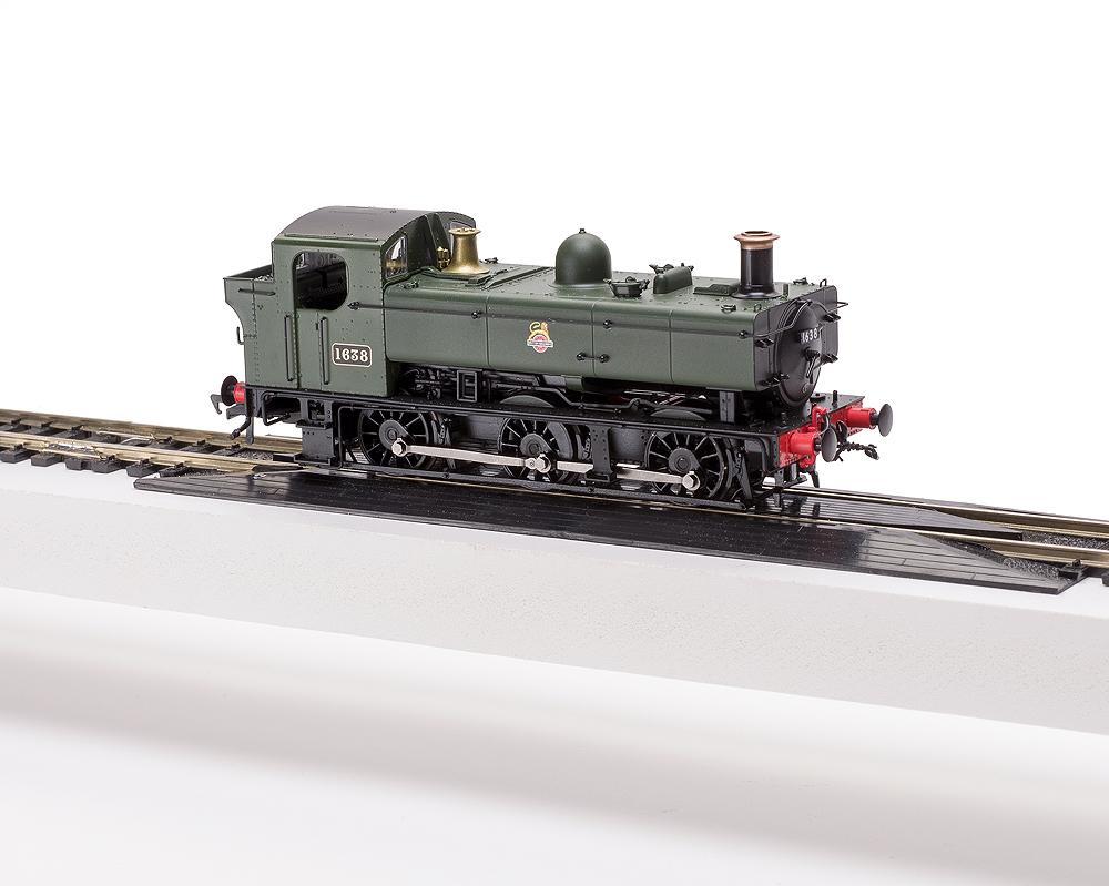 Model Rail/Rapido Trains 16XX 0-6-0PT on OO scale locomotive test stand
