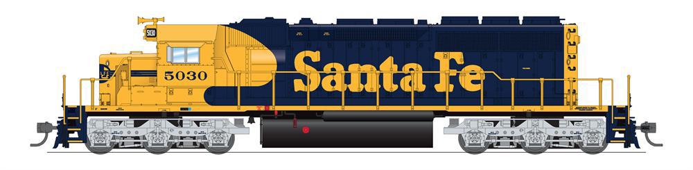 Atchison, Topeka & Santa Fe Electro-Motive Division SD40-2 diesel locomotive no. 5030