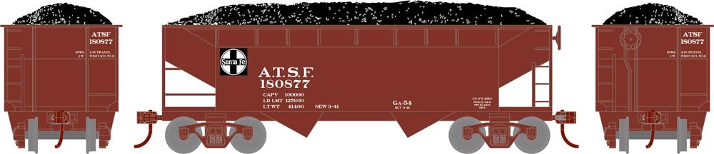 Santa Fe Roundhouse 34-foot offset hopper