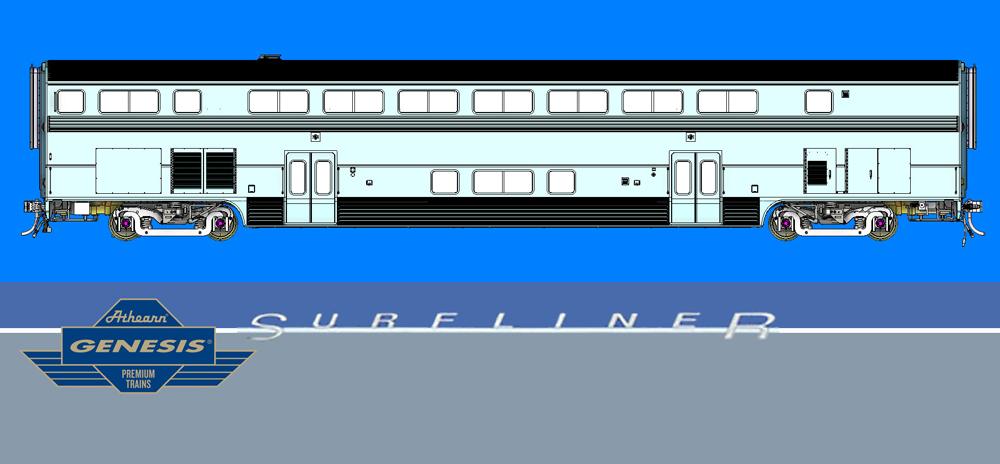 Athearn Genesis HO scale Surfliner bi-level intercity cars