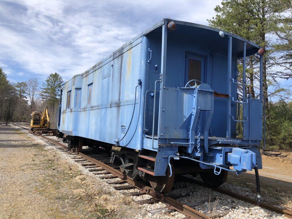 blue caboose
